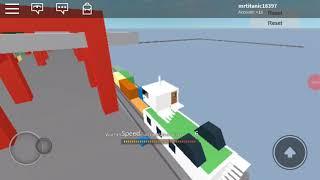 Roblox cargo ship ireland to usa