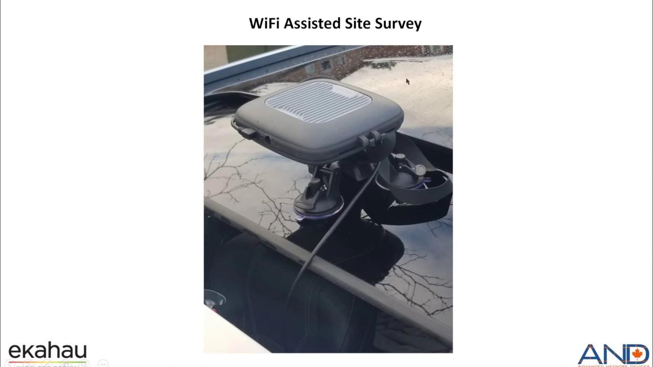 Ekahau GPS Assisted Site Survey using Sidekick