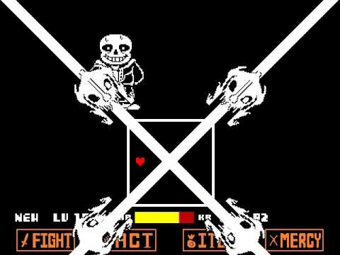 Undertale - Sans Fight [No Mercy Run Final Boss] - YouTube