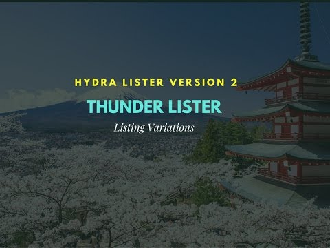 How to List Variations with Thunder Lister Hydra Lister v2