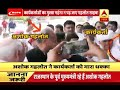 Rajasthan's former CM Ashok Gehlot hustles a Congress worker at Jodhpur airport
