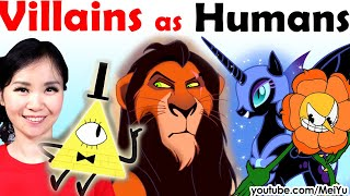 Reimagine Villains as Humans Art Challenge | Fun Videos to Watch When Bored | Mei Yu (Fun2draw)