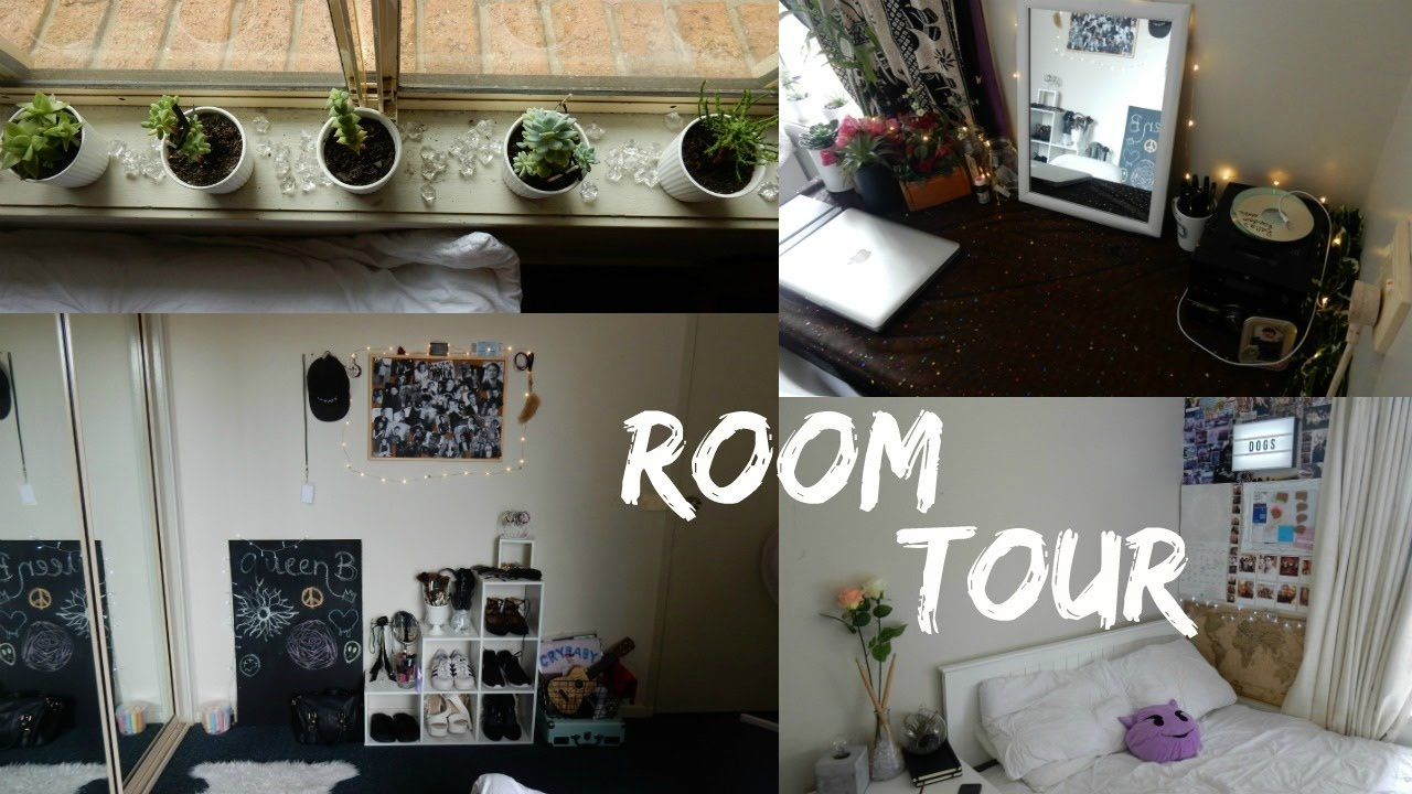 room tour 2017 || aesthetically pleasing + tumblr (small room)