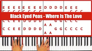 ♫ EASY - How To Play Where Is The Love Black Eyed Peas Piano Tutorial Lesson! - PGN Piano