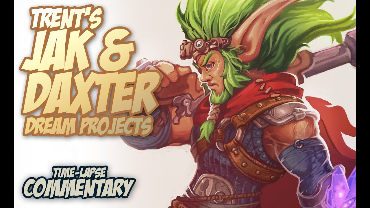Jak And Daxter 4 Character Concept Art Time Lapse