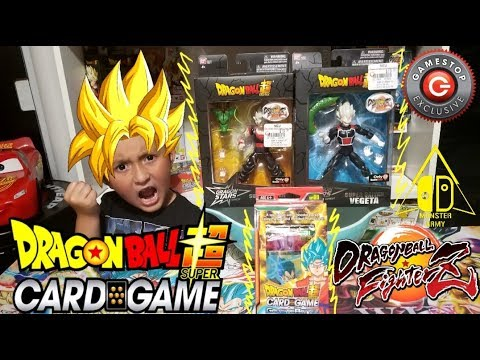 DRAGONBALL SUPER SAIYAN BOWL SUNDAY!! RARE NEW DRAGONBALL FIGHTERZ TOYS! OPENING DB CARD GAME PACKS!