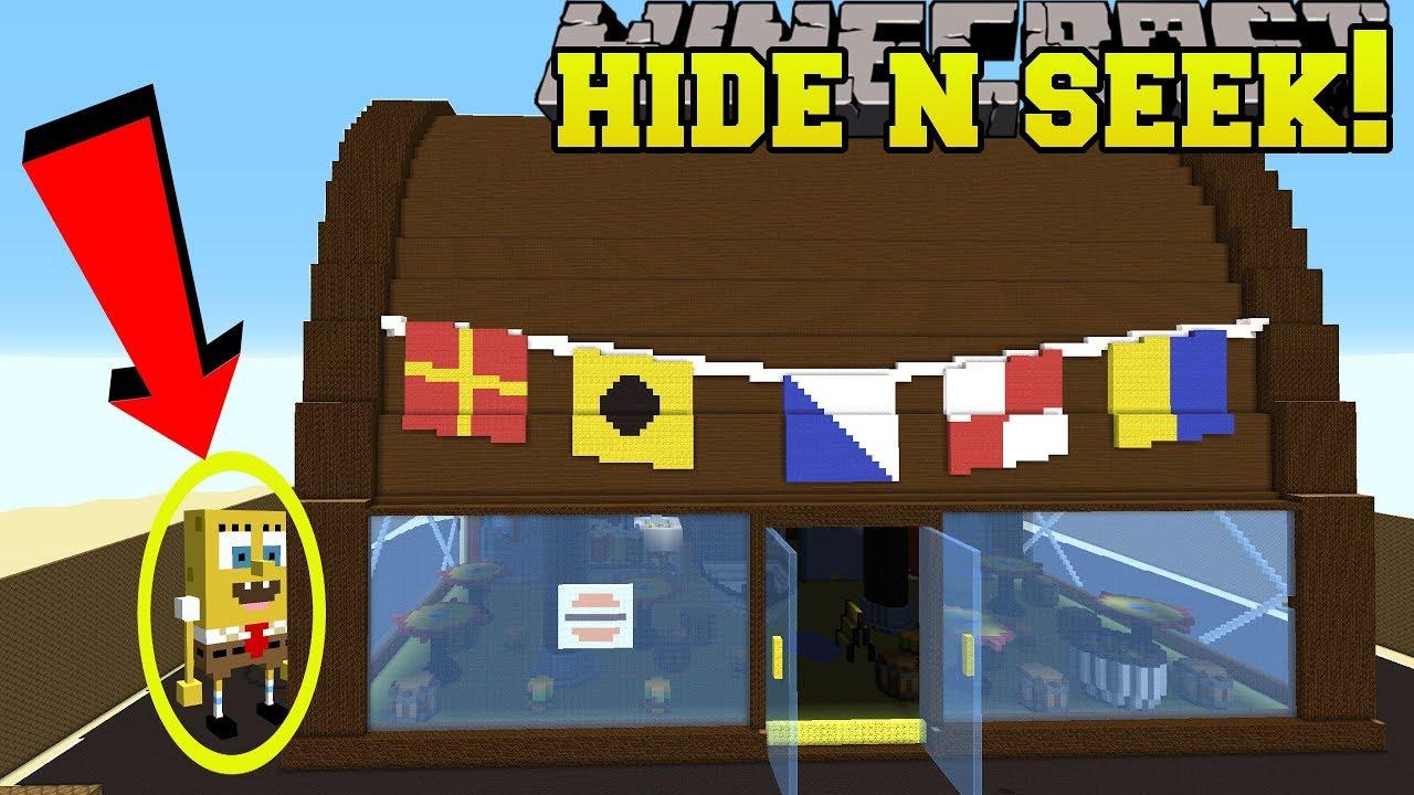Minecraft Spongebob Hide And Seek Morph Hide And Seek