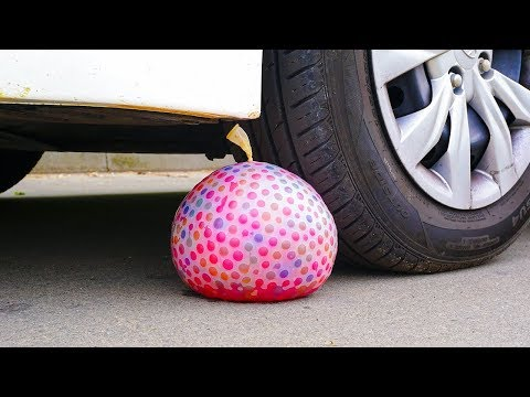 10K ORBEEZ BALLOON vs CAR