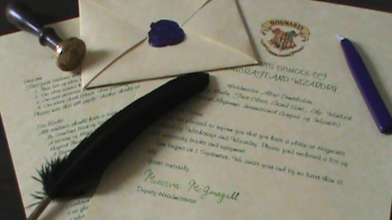 Hogwarts Acceptance Letter   Quiller Crafts [CC]   YouTube