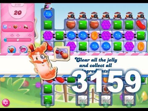 Candy Crush Saga Level 3159 (20 moves)
