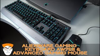 ALIENWARE Mechanical Pro Gaming Keyboard (AW768) and the Advanced Gaming Mouse (AW558)