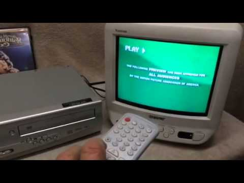 how to connect a vcr dvd player to tv