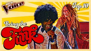 Talents who brought the FUNK to The Voice | Top 10 - best funk music 80s