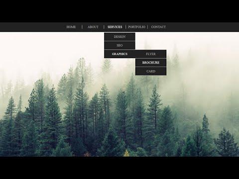 CSS Dropdown Menu Hover Animation