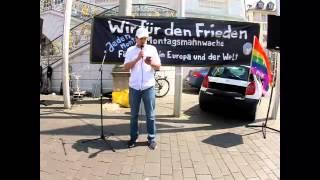 Friedens Mahnwache Bonn 17.05.2014 - Redner 2 - Friedensdemo