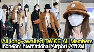 200224 트와이스(TWICE) 오랫동안 기다렸던 미나와 함께한 완전체 입국 현장 (인천국제공항 입국)