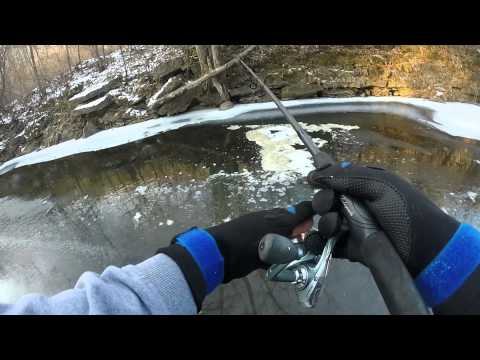 Trout fishing otter creek dcember 4th 2014 youtube for Otter creek fishing report