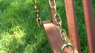 Diamond Back Wood Porch Swing - Product Review Video