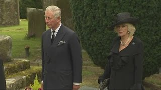 Charles and Camilla attend funeral for last of Mitford sisters