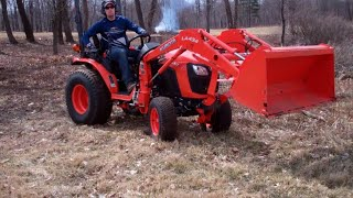 Spring cleanup with the Kubota, starting 200 trees... - Ep. 90
