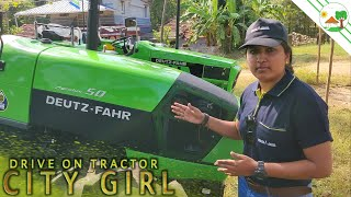 Deutz Fahr Agrolux 50 4WD 50 HP Tractor Review New Tractor with Athira Murali