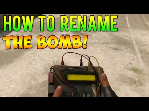CS GO - How to Rename The Bomb + Get C4 In Your Inventory!