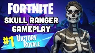 Fortnite Battle Royale NEW SKULL RANGER Skin Gameplay