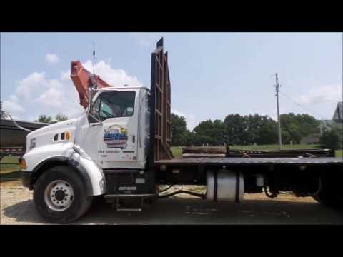 2003 Sterling L9500 grapple crane truck for sale | no-reserve Internet  auction August 31, 2017