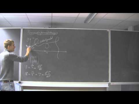 15 - Parameterkurver & vektorfunktioner