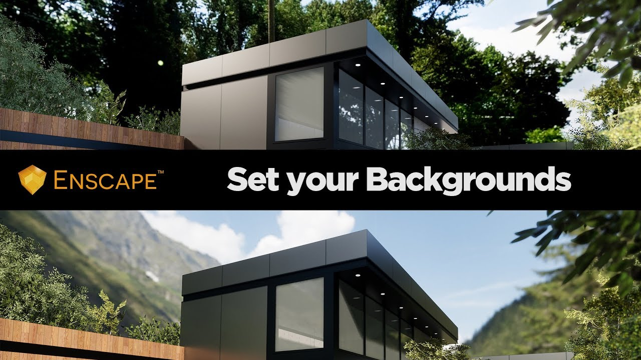 All The Creative Ways For Your Model Backgrounds (Skybox) with Enscape