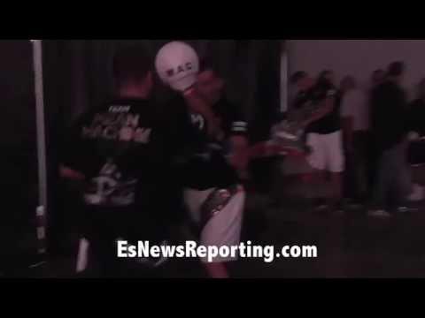 Egis Kavaliauskas before his KO win tonight Getting ready – EsNews Boxing