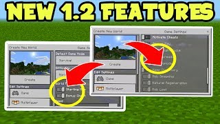 NEW Minecraft PE 1.2 Update Features!! - Bonus Chests, Fire Spreads, TNT Explodes // MCPE 1.2 Update
