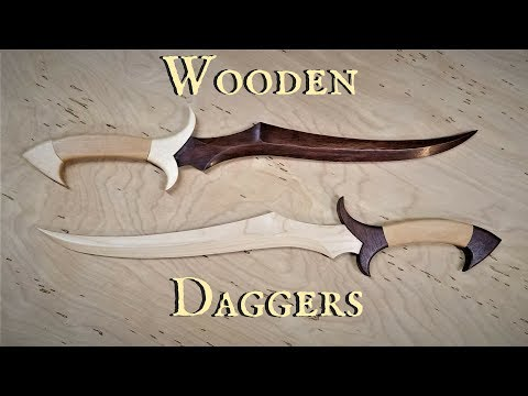 Making Wooden Daggers TEMPLATE AVAILABLE