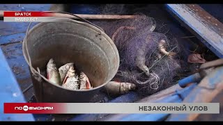 Браконьеров с сетями оштрафовали во время рейда в Братске
