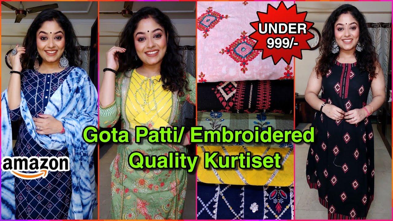 💛Cotton Kurti & Dupatta, Bottom set💛Amazon Suit Set Haul💛Under 999/-💛Festive wear 💛Vaishali