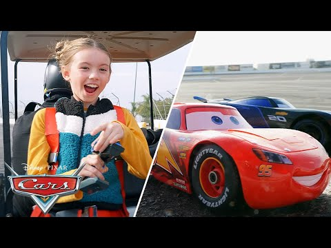 Racing TOY CARS On A REAL RACE TRACK! | Pixar Cars