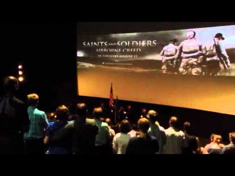 David Osmond sings National Anthem at Saints and Soldiers: Airborne Creed Premiere