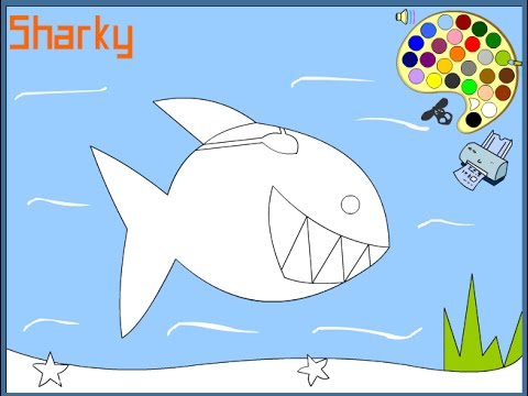 Free Shark Coloring Pages For Kids - Shark Coloring Pages - YouTube