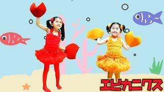 今流行ってるらしい!ケロポンズの『エビカニクス』踊ってみた♪himawari-CH thumbnail