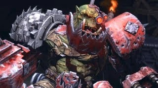 Ork Warboss Grimskull: Waaagh! on Graia Forge World (Warhammer 40k: Space Marine)