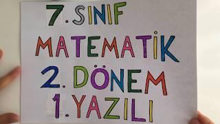 7. sınıf Matematik 2. Dönem 1. Yazılı