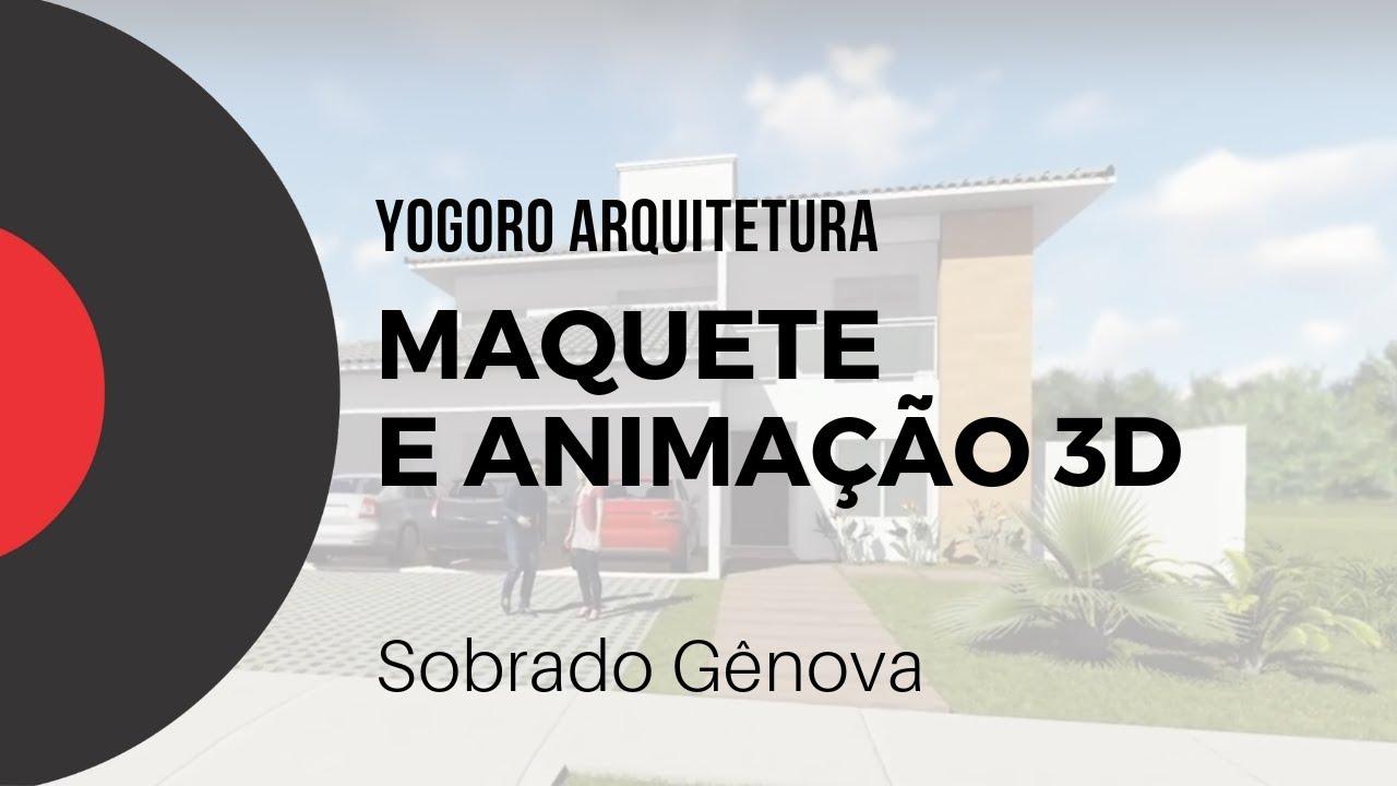 Maquete e Animação 3D -  Sobrado Gênova - Yogoro Arquitetura