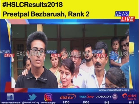 Assam HSLC Results 2018: Second position holder Preetpal Bezbaruah speaks to News Live