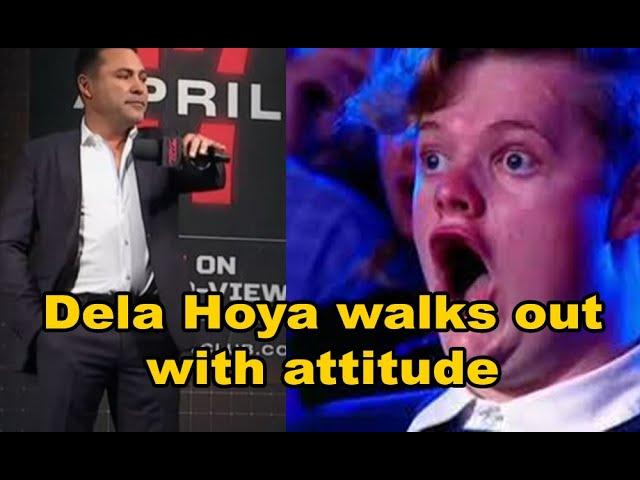 Dela Hoya got attitude drops mic walk out