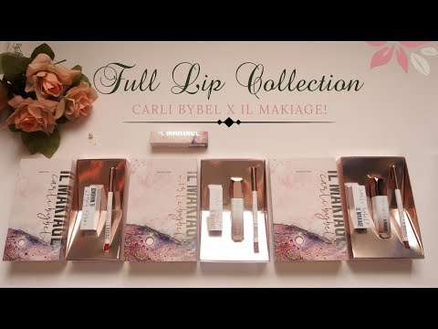 CARLI BYBEL FULL LIP COLLECTION WITH IL MAKIAGE Annie Omar Thoughts ♡ thumbnail