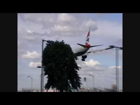 Aircraft Landing At London Heathrow