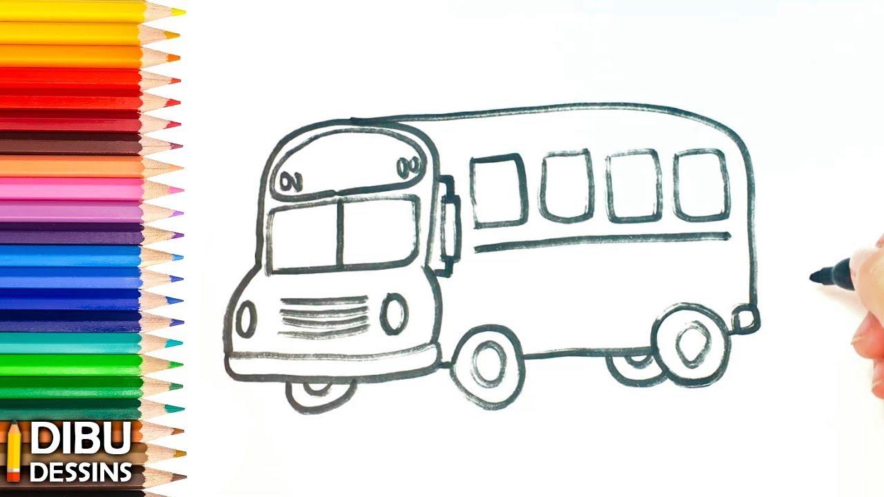 Comment dessiner un bus dessin de bus youtube - Dessiner un bus ...