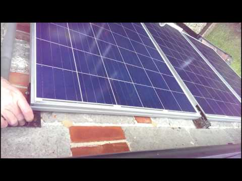 Fitting Solar Panels to House Wall