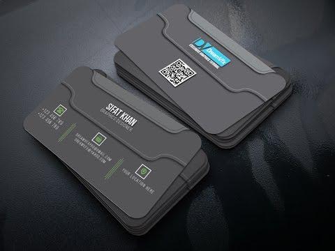 Design a Clean Black business card with illustrator | Adobe Illustrator Tutorials thumbnail