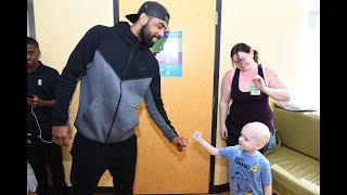 nba family gives back in los angeles